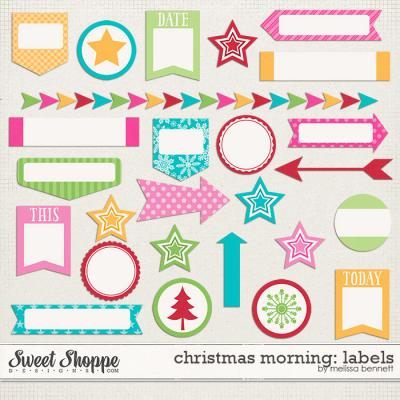 Christmas Morning Labels by Melissa Bennett