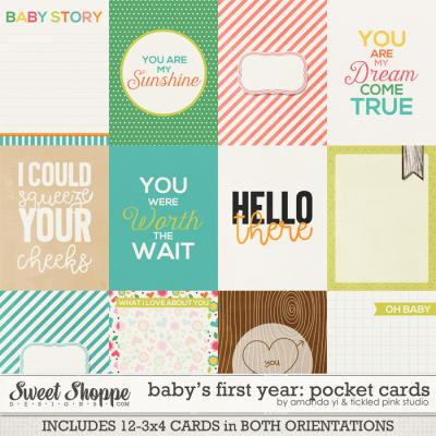 Baby's First Year : Pocket Cards by Amanda Yi & Tickled Pink Studio