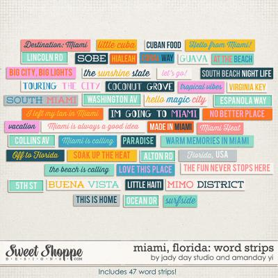 Miami, Florida : Word Strips by Jady Day Studio & Amanda Yi
