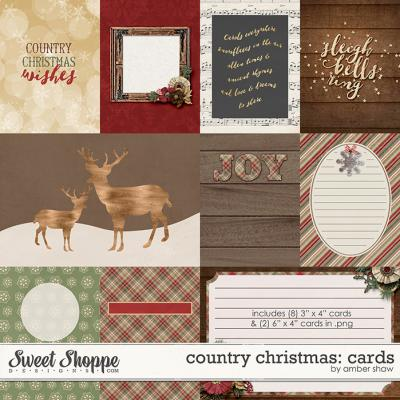 Country Christmas Cards by Amber Shaw