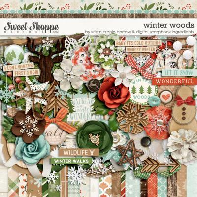 Winter Woods: Kit by Kristin Cronin-Barrow & Digital Scrapbook Ingredients