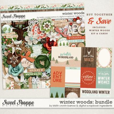 Winter Woods: Bundle by Kristin Cronin-Barrow & Digital Scrapbook Ingredients