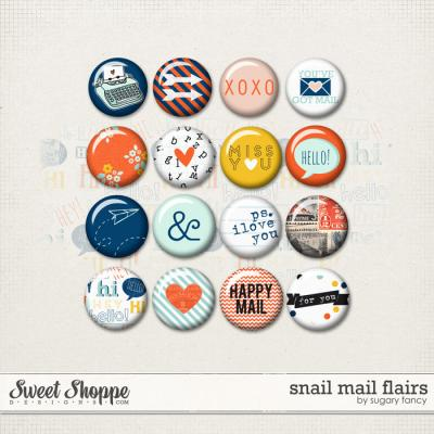 Snail Mail Flairs by Sugary Fancy