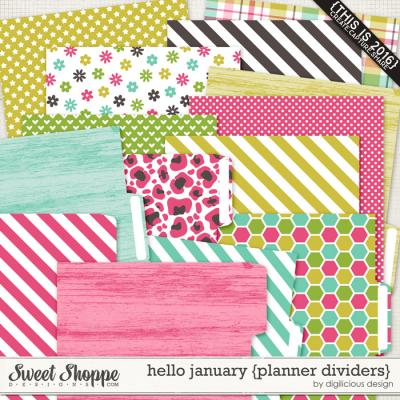 Hello January {Planner Dividers} by Digilicious Design