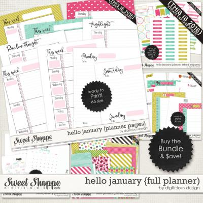 Hello January {Full Planner} by Digilicious Design