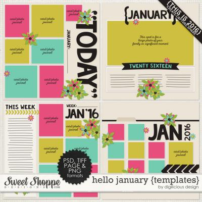Hello January {Templates} by Digilicious Design