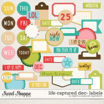 Life Captured December | Labels and Word Art by Digital Scrapbook Ingredients