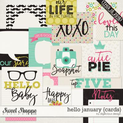 Hello January {Cards} by Digilicious Design