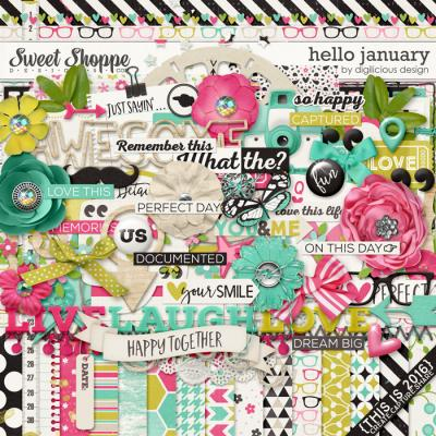 Hello January {Kit} by Digilicious Design