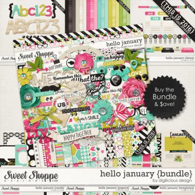 Hello January {Bundle} by Digilicious Design