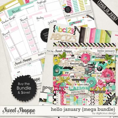 Hello January {Mega Bundle} by Digilicious Design