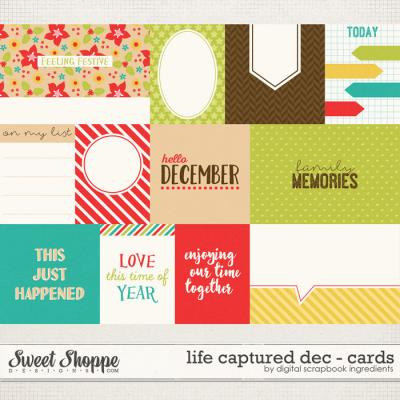 Life Captured December   Journal Cards by Digital Scrapbook Ingredients
