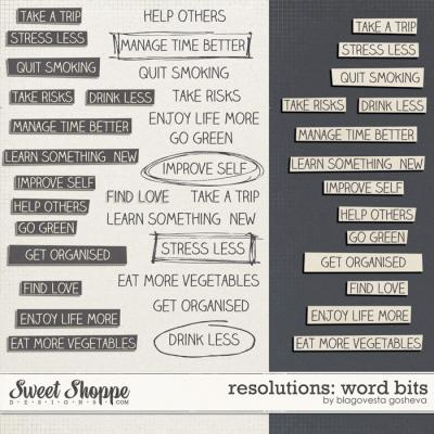 Resolutions: Word bits by Blagovesta Gosheva
