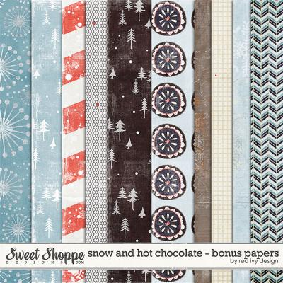 Snow and Hot Chocolate - Bonus Papers - by Red Ivy Design