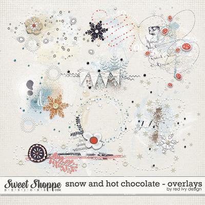 Snow and Hot Chocolate - Overlays - by Red Ivy Design