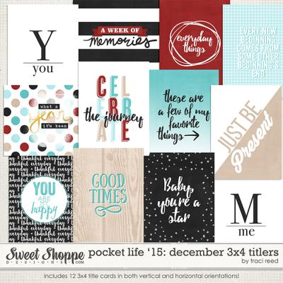 Pocket Life '15: December 3x4 Titlers by Traci Reed
