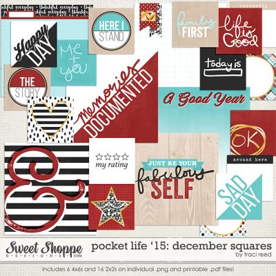 Pocket Life '15: December Squares by Traci Reed