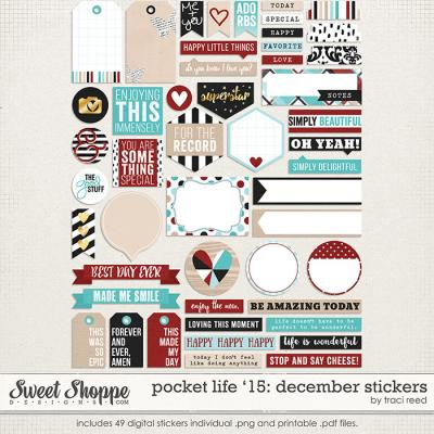 Pocket Life '15: December Stickers by Traci Reed