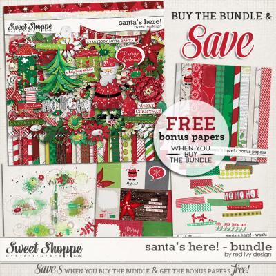Santa's Here! - Bundle - by Red Ivy Design