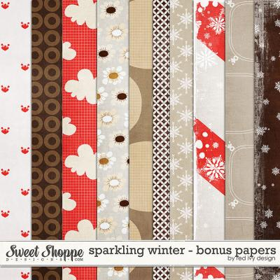 Sparkling Winter - Bonus Papers - by Red Ivy Design