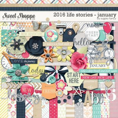 2016 Life Stories - January Kit by Sugary Fancy