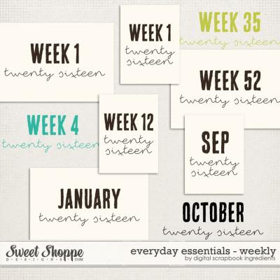 Everyday Essentials | Weekly by Digital Scrapbook Ingredients