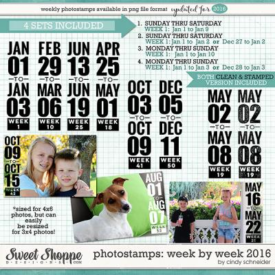 Cindy's Photostamps - Week by Week 2016 by Cindy Schneider