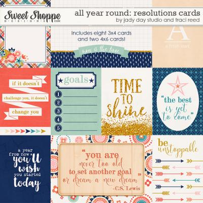 All Year Round: Resolutions Cards by Traci Reed and Jady Day Studio