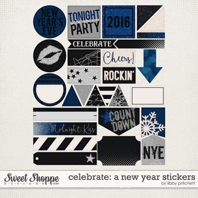 Celebrate: A New Year Stickers by Libby Pritchett