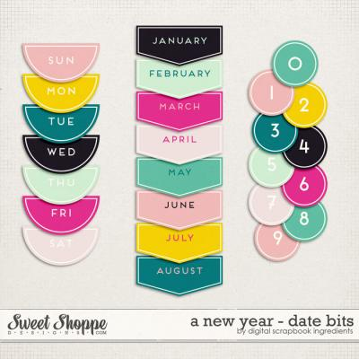 A New Year   Date Bits by Digital Scrapbook Ingredients