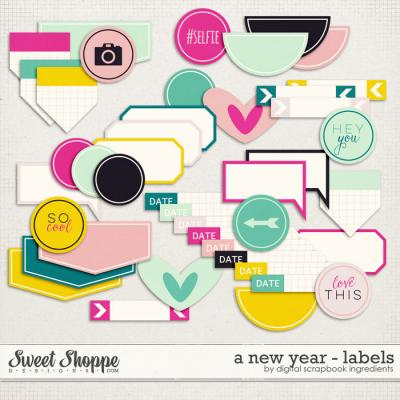A New Year   Labels and Stickers by Digital Scrapbook Ingredients
