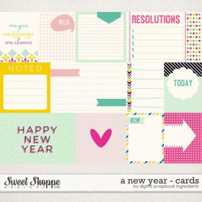A New Year | Journal Cards by Digital Scrapbook Ingredients