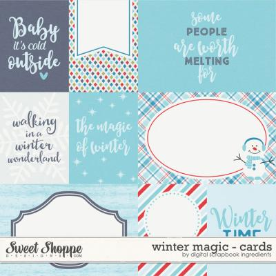 Winter Magic | Journal Cards by Digital Scrapbook Ingredients