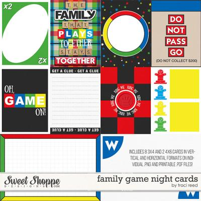 Family Game Night Cards by Traci Reed