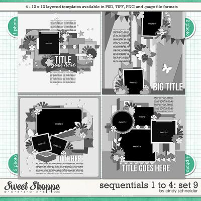 Cindy's Templates - Sequentials 1 to 4: Set 9 by Cindy Schneider