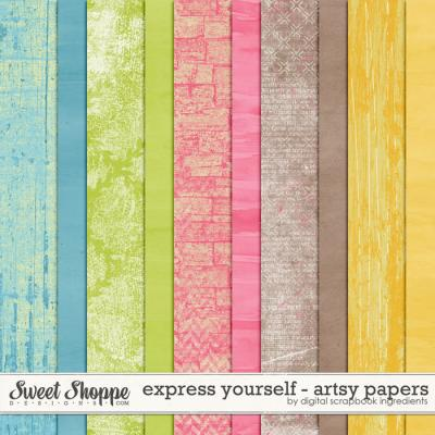 Express Yourself | Artsy Papers by Digital Scrapbook Ingredients