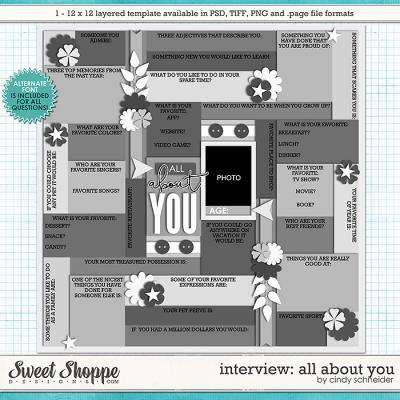 Cindy's Layered Templates - Interview: All About You by Cindy Schneider