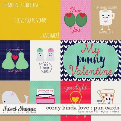 Corny Kinda Love-Pun Cards by Amanda Yi & Meghan Mullens