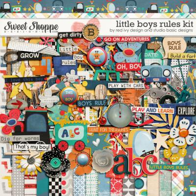 Little Boys Rules by Studio Basic and Red Ivy Design