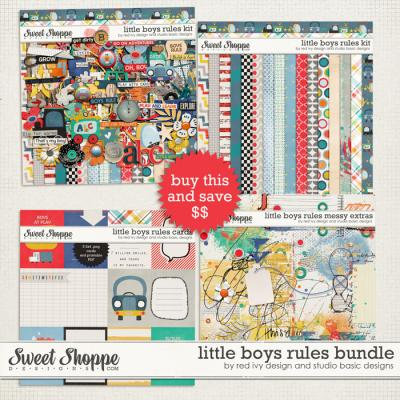 Little Boys Rules - Bundle by Studio Basic and Red Ivy Design