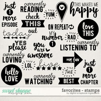 Favorites | Stamps by Digital Scrapbook Ingredients