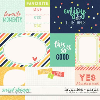 Favorites | Journal Cards by Digital Scrapbook Ingredients