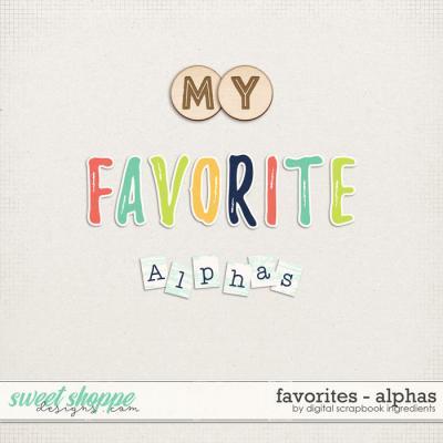 Favorites | Alphas by Digital Scrapbook Ingredients