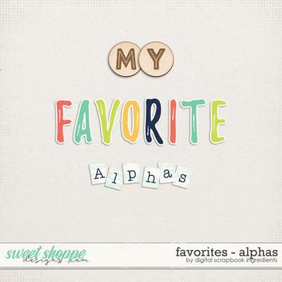 Favorites | Alphas by Digital Scrapbook Ingredients