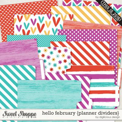 Hello February {Planner Dividers} by Digilicious Design
