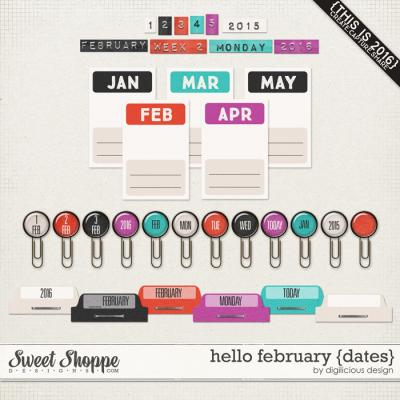 Hello February {Dates} by Digilicious Design