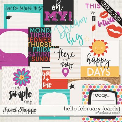 Hello February {Cards} by Digilicious Design