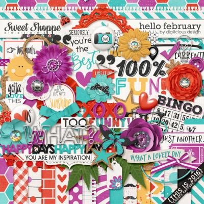 Hello February {Kit} by Digilicious Design