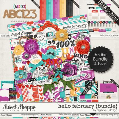 Hello February {Bundle} by Digilicious Design