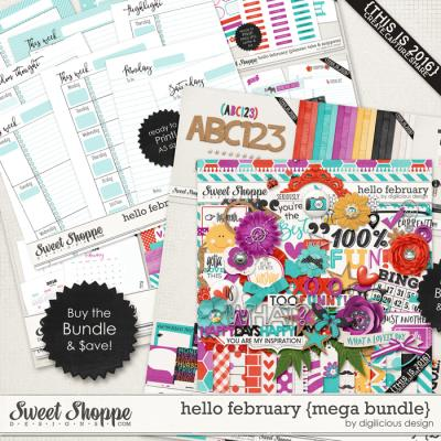 Hello February {Mega Bundle} by Digilicious Design